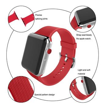 TEPELI spor silikon kayış için apple watch 4 band 44mm/40mm correa iwatch serisi 4 3 2 1 42 mm/38mm kauçuk bilek watchband kemer